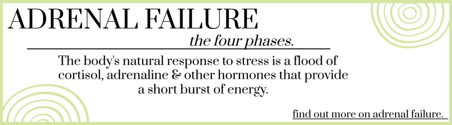 Four phases of adrenal failure